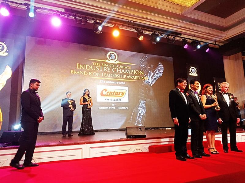 Century Battery receiving BrandLaureate award 2019