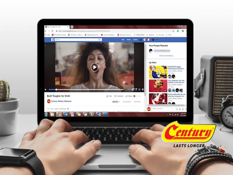 century battery videos trending in youtube & fb