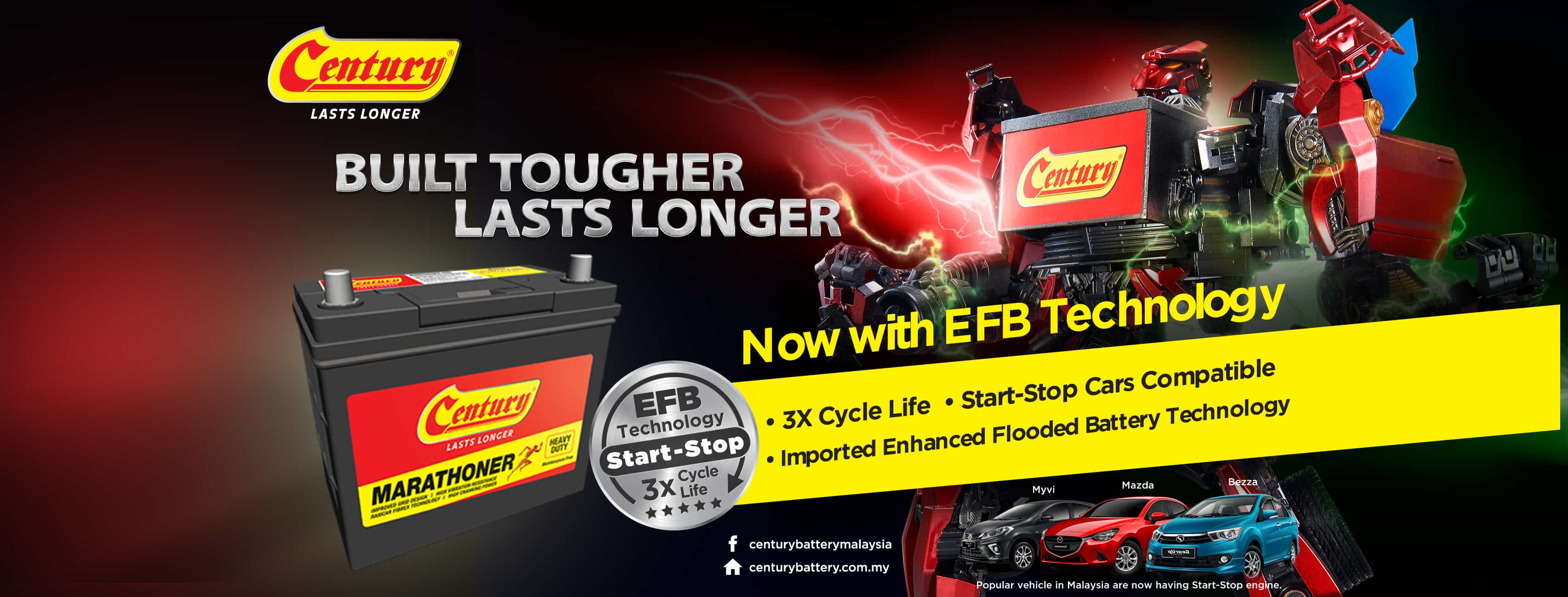 Century Batteries now packed with EFB technology start-stop cars!| Century Battery