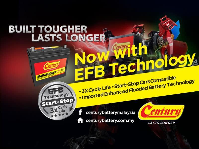 Ketahui Kegunaan Bateri Kereta EFB | Century Battery