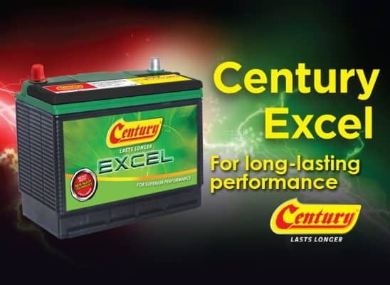 Century Excel for long-lasting car battery!