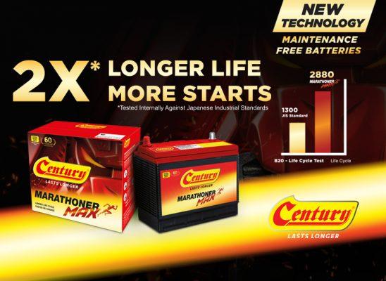 All New Century Marathoner Max Offers 2X Longer Battery Life!