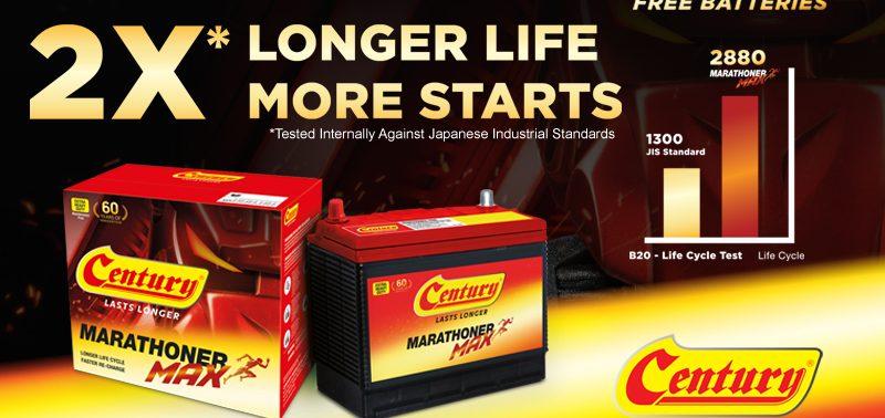 All New Century Marathoner Max Offers 2x Longer Battery Life!| Century Battery