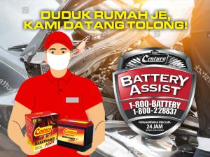 MCO Buat Bateri Kereta kong? Duduk rumah je, kami datang! | Century Battery